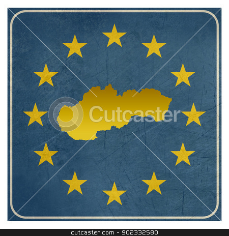 Slovakia European sign stock photo, Slovakia European sign isolated on white background.  by Martin Crowdy