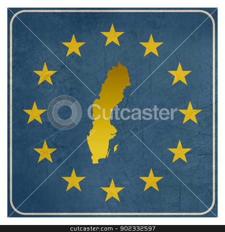 Sweden European sign stock photo, Sweden European sign isolated on white background.  by Martin Crowdy