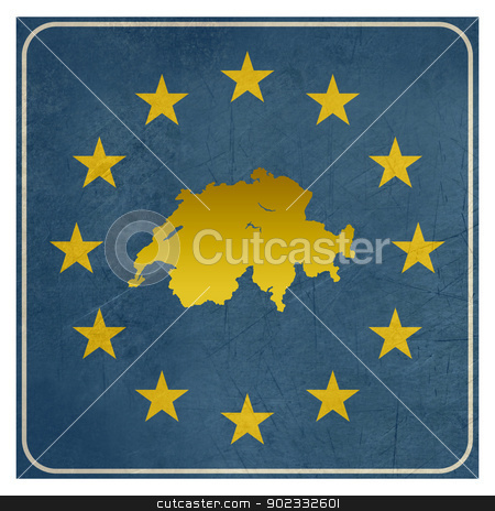 Switzerland European sign stock photo, Switzerland European sign isolated on white background with copy space.  by Martin Crowdy