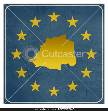 Vatican City European sign stock photo, Vatican City European sign isolated on white background.  by Martin Crowdy