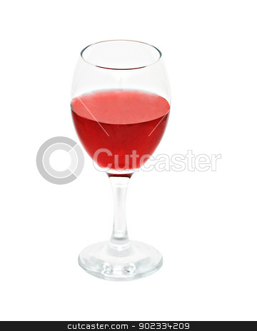 Goblet with red wine isolated on white background  stock photo, Goblet with red wine isolated on white background  by vaeenma
