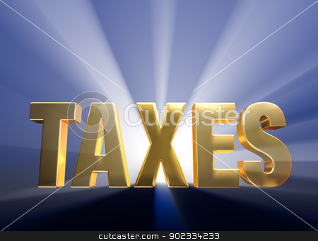 Bold Taxes stock photo, Gold