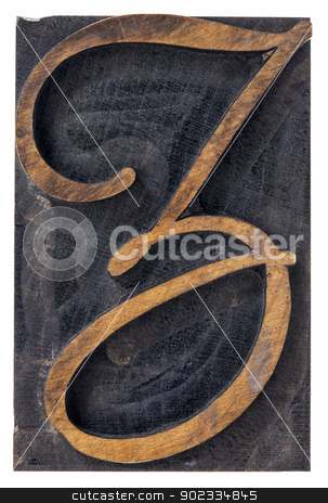 ornamental letter Z stock photo, ornamental letter Z - script font - isolated letterpress wood type printing block by Marek Uliasz