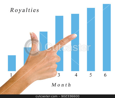 Finger pointing to a  chart stock photo, Finger pointing to a  chart by vaeenma
