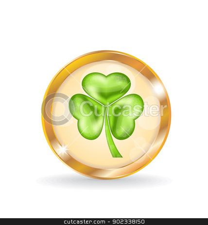 Trefoil icon isolated for Saint Patrick day stock vector clipart, Illustration trefoil icon isolated for Saint Patrick day - vector  by -=Mad Dog=-