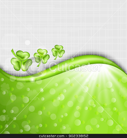 St. Patrick Day background with trefoil  stock vector clipart, Illustration St. Patrick Day background with trefoil - vector by -=Mad Dog=-