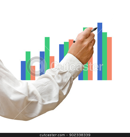pointing to a chart stock photo, pointing to a chart by vaeenma