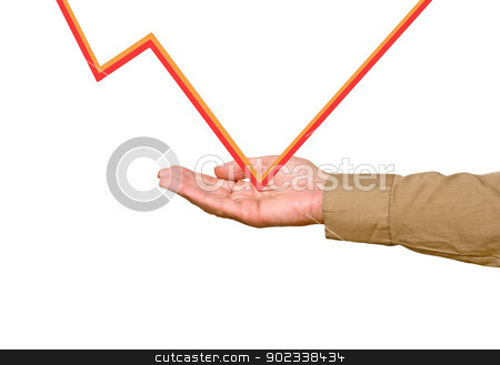 Palm with a  chart stock photo, Palm with a  chart by vaeenma