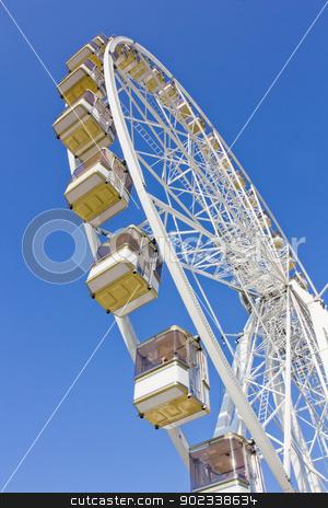 Ferris wheel in Paris stock photo, A ferris wheel near Louvren in Paris, France by Tommy Alsén