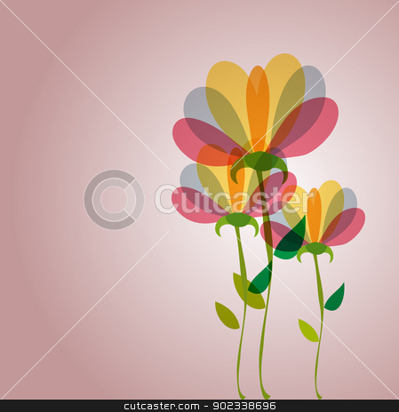 Cute transparency flowers stock vector clipart, Spring time contemporary transparent flowers background. EPS10 file version. This illustration contains transparencies and is layered for easy manipulation and customization. by Cienpies Design