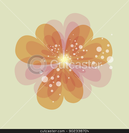 Colorful transparency heart flower stock vector clipart, Spring love transparent heart shape flower. EPS10 file version. This illustration contains transparencies and is layered for easy manipulation and customization. by Cienpies Design