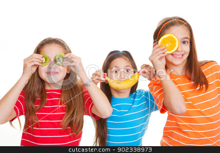 healthy fruit diet stock photo, kids eating healthy fresh fruit diet concept by mandygodbehear