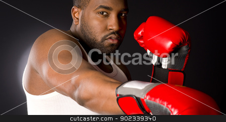 Puncher Lays down a Blow stock photo, A boxer punches at you by Christopher Boswell