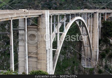 Bixby Bridge stock photo, Famous Bixby Bridge in Big Sur, California. by Ken Wolter