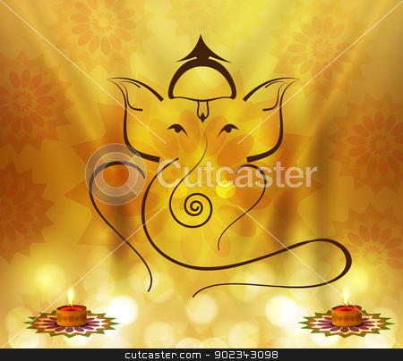 Beautiful Artistic colorful Hindu Lord Ganesha vector design stock vector clipart, Beautiful Artistic colorful Hindu Lord Ganesha vector design by bharat pandey
