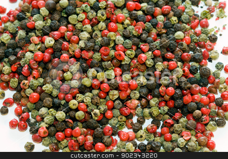Pepper stock photo, Red, black and green pepper by Mirko Pernjakovic