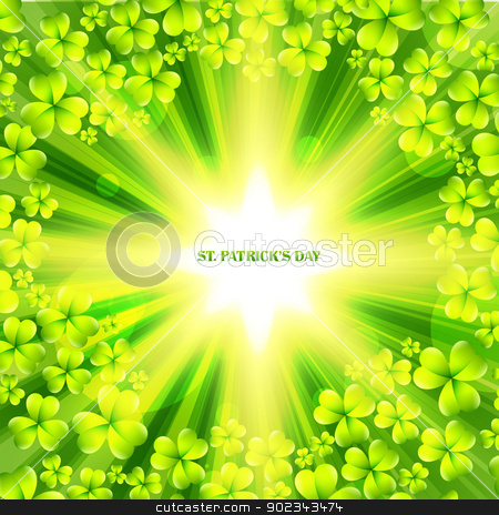 st patrick's day design stock vector clipart, stylish st patrick's day vector illustration by pinnacleanimates