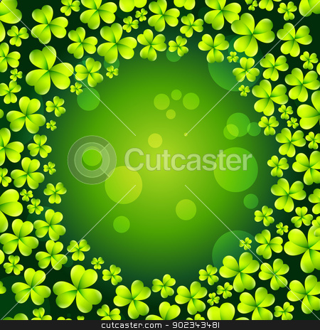 st patrick's day design stock vector clipart, st patrick's day vector background by pinnacleanimates