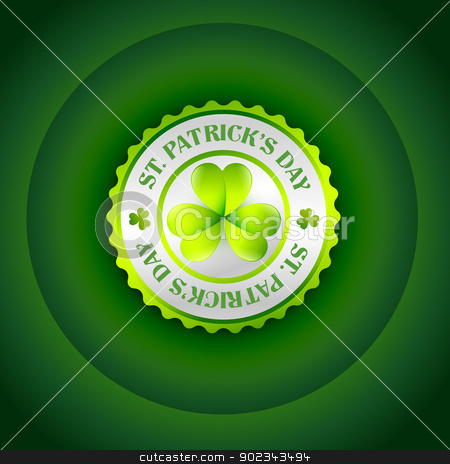 st patrick's day label stock vector clipart, vector st patrick's day label design by pinnacleanimates