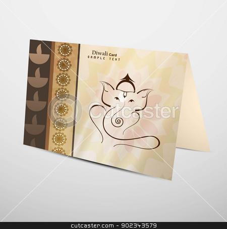 Hindu Lord Ganesha greeting card beautiful Artistic colorful vec stock vector clipart, Hindu Lord Ganesha greeting card beautiful Artistic colorful vector  by bharat pandey