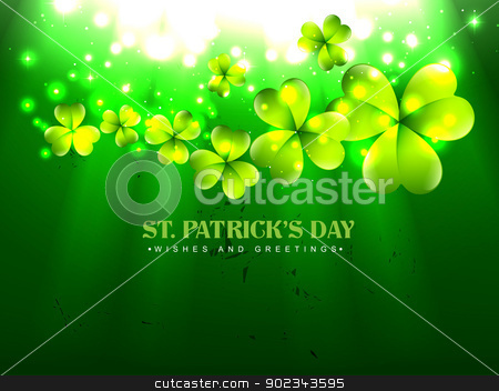 vector beautiful saint patrick's day stock vector clipart, vector beautiful st patrick's day design illustration by pinnacleanimates
