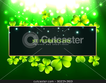 beautiful st patrick's day design stock vector clipart, beautiful vector saint patrick's day design with space for your text by pinnacleanimates