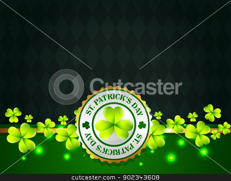 saint patrick's day label stock vector clipart, vector saint patrick's day design with space for your text by pinnacleanimates