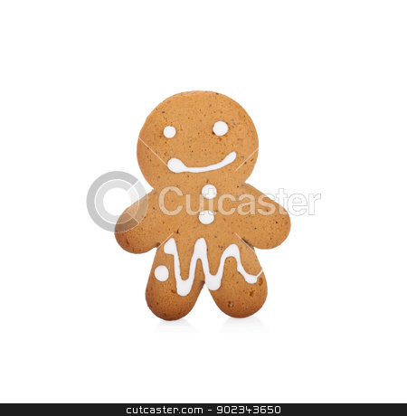 Ggingerbread man on white stock photo, Ggingerbread man isolated on white background by Alexander Tarasov