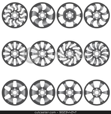 Car  alloy wheels, vector illustration stock vector clipart, Car  alloy wheels, vector illustration by aarrows