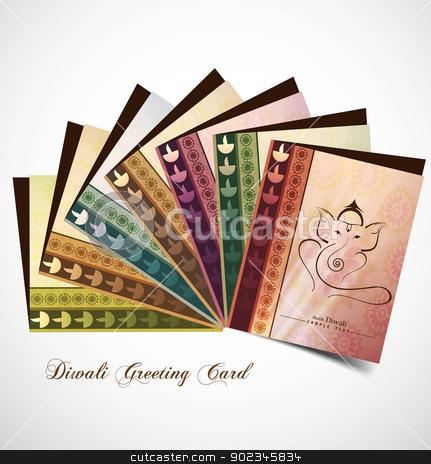 Hindu Lord Ganesha presentation greeting card beautiful colorful stock vector clipart, Hindu Lord Ganesha presentation greeting card beautiful colorful vector whit background by bharat pandey