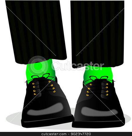 Mens Feet stock vector clipart, Two mens feet about to get fidgity. by Kotto