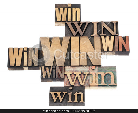 win word abstract stock photo, win word abstract - isolated text in a variety of vintage letterpress wood type printing blocks by Marek Uliasz