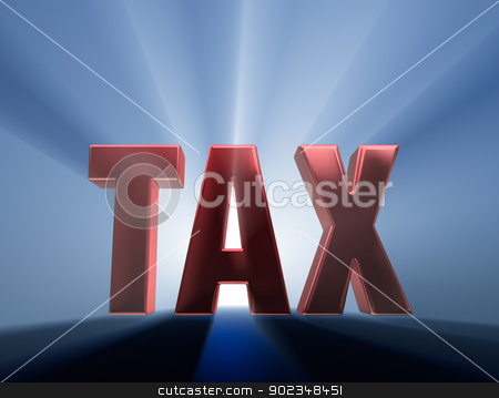 Big Tax stock photo, Shiny red