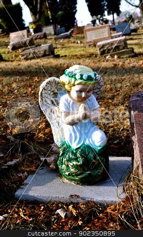 Gravesite - Angel - Blue Eyes stock photo, Gravesite - Angel - Blue Eyes by Liane Harrold