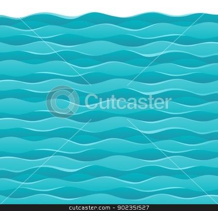 Waves theme image 7 stock vector clipart, Waves theme image 7 - vector illustration. by Klara Viskova