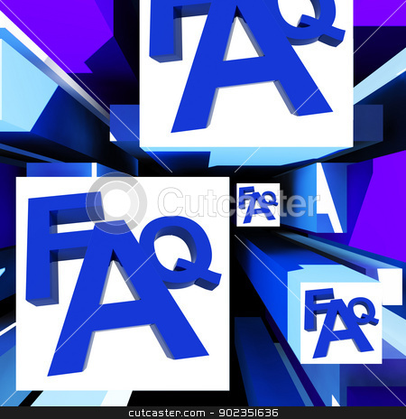 FAQ On Cubes Shows Advice stock photo, FAQ On Cubes Shows Advice And Inquiries by stuartmiles