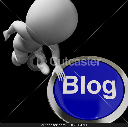 Blog Button For Blogger Or Blogging Web Sites stock photo, Blog Button For Blogger Or Blogging Websites by stuartmiles