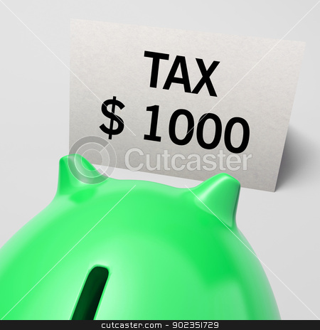 One Thousand dollars, usd Tax Showing Expensive Taxes stock photo, One Thousand dollars, usd Tax Showing Expensive Taxes Or High Debts by stuartmiles