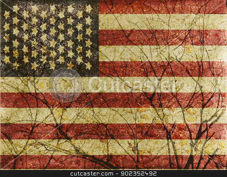 American Roots stock photo, American flag illustration.Use it for any kind of design related with america, like patriotic, holidays, sports, etc. by Daniel