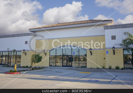 Vacant Retail Building stock photo, Majestic Vacant Retail Building Ready for Occupancy. by Andy Dean