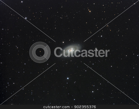 Messier 64 stock photo, Messier 64 galaxie with the black eye by Reinhold Wittich