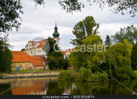 monastery Brevnov stock photo, view of the old monastery Brevnov in Prague by Juliane Jacobs