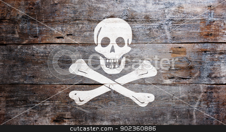 Flag of piracy stock photo, The traditional