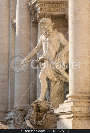 Trevi fountain details in Rome Italy stock photo, Details of statues in Trevi fountain in Rome Italy by Steven Heap