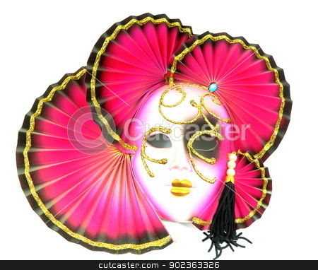 Mask from Venice stock photo, Mask from Venice isolated on white background. Carnival in Venice. by MarcinSl1987