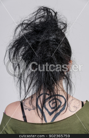 Beautiful Woman stock photo, The back of a head of a beautiful young woman  by Robert Byron