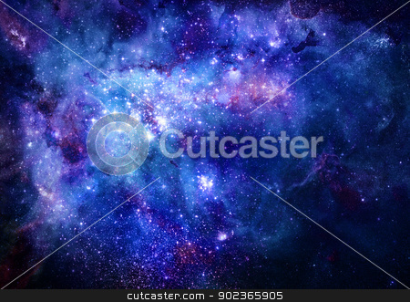 nebula gas cloud in deep outer space stock photo, bright nebula gas cloud in deep outer space by Phil Morley