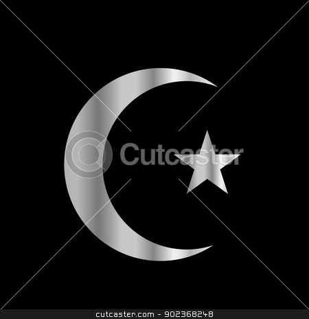 Symbol of Islam stock vector clipart, Symbol of Islam by DoReMe