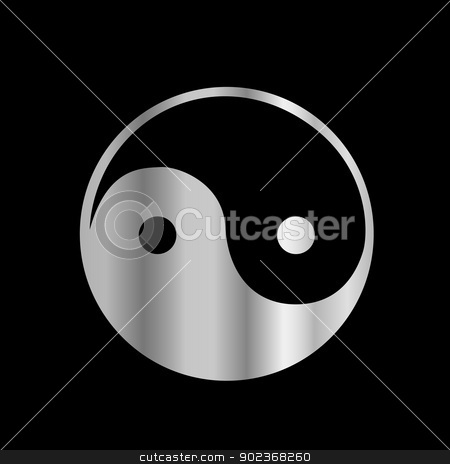 Taoism- Daoism- Ying and Yang religious icon stock vector clipart, 	Taoism- Daoism- Ying and Yang religious icon by DoReMe