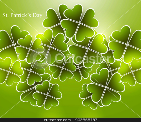 Abstract shiny beautiful green saint patricks day vector illustr stock vector clipart, Abstract shiny beautiful green saint patricks day vector illustration  by bharat pandey